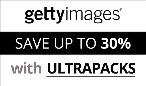 Getty Images Ultrapacks 30 % promotion
