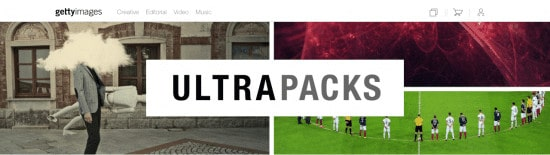 Snímek obrazovky Getty Images Ultra Packs