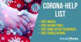 Doma, ale ne přilepení! Korona virus-pomocný seznam free fotek a zdrojů zdarma